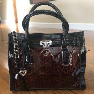 ⭐️Price Firm-Brighton patent leather leopard HB